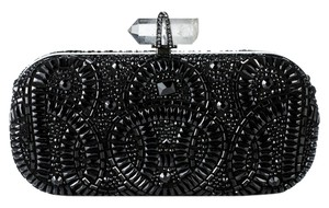 Marchesa Removable Chain Strap Handmade In Italy Black Clutch