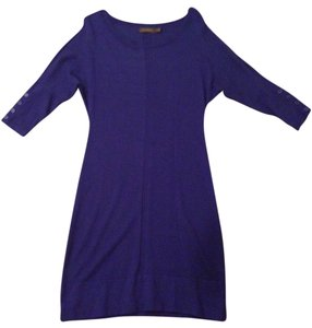 The Limited short dress Blue Sweater Knit Sleeves on Tradesy