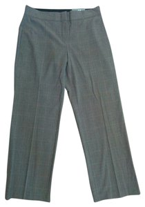 JM Collection Plaid Flare Pants Brown