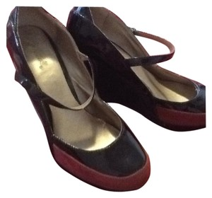 Unknown Shoe Wedge Burgundy and black Wedges