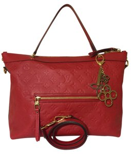Louis Vuitton Leather Empreinte Monogram Satchel in Cerise