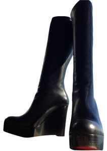 Christian Louboutin Black Leather Boots