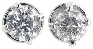 ABC Jewelry 1/4 ct round diamond solitaire studs earrings .22 ct 100% all natural diamonds White Gold
