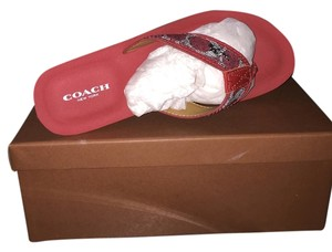 Coach Flip Flops Flipflops RED Wedges