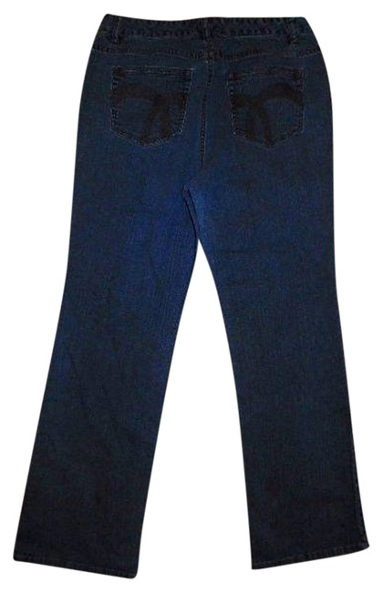 Liz Claiborne Size 10 P491 Summersale Boot Cut Jeans-Medium Wash