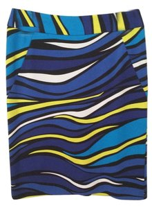 Premise Skirt Multi-Black, white,yellow, royal blue