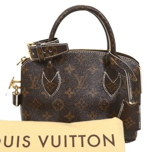 Louis Vuitton Satchel in Glossy Monogram Browns