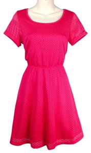 Modcloth short dress pink Fit And Flare Shirt on Tradesy