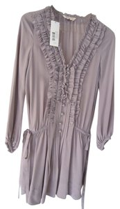 Rebecca Taylor short dress soft taupe / clay grey Tuxedo Tunic Mini on Tradesy