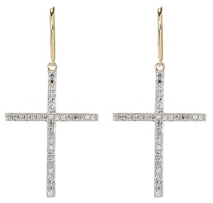 Beverly Hills Elegance Beverly,Hills,Elegance,Cross,Drop,Earrings