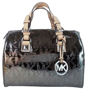 Michael Kors Signature Grayson Satchel in Nickel