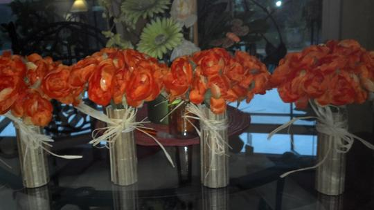 Orange Flowers Wrapped In Bamboo Other