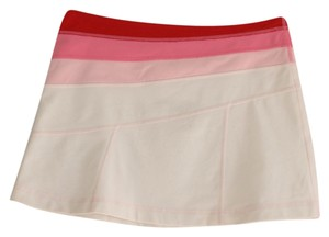 Lululemon reversible groove tennis skirt pink white red