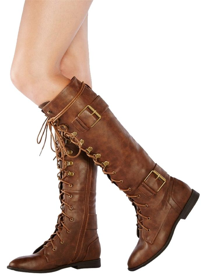 MISS JustFab Brown Boots/Booties Mikaylah Boots/Booties Brown Reliable quality e0f2f8