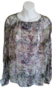 Zara Woman Large Sheer Top Multicolor