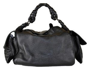 Bottega Veneta Cervo Cocker Satchel in Black
