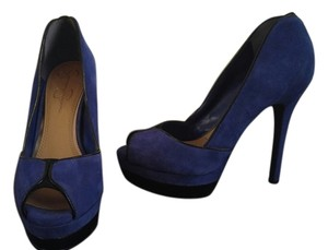 Jessica Simpson Royal Blue Platforms