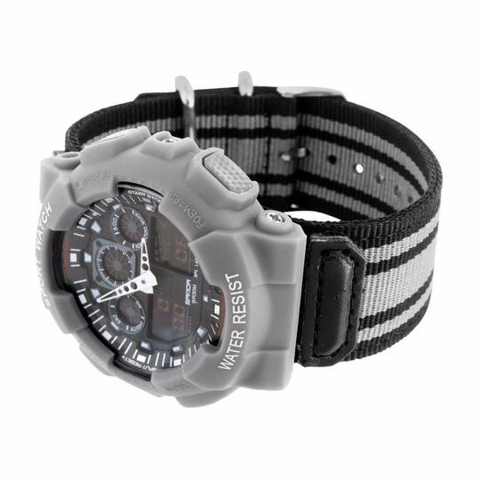 Other Mens Silver Shock Resistant Watch Sports Look Analog & Digital Display Brand New Image 1