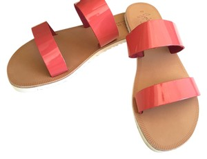 Joie Patent Leather Leather Coral Pink Sandals