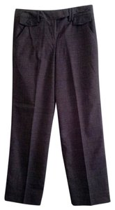 Larry Levine Trouser Pants Brown plaid