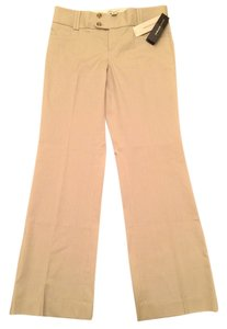 Banana Republic Slimming Stretch Petite Work Attire Lengthens Casual Flare Pants Gray/White