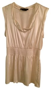 BCBG Silk Spandex Dry Clean Top Cream