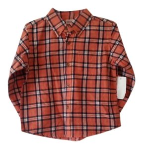 Arizona Jeans Company Button Down Shirt Orange Multi
