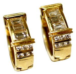Huggi Italian Diamond Baguette Earrings