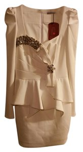 Other Cream Prom Rhinestones Dress