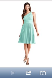 Donna Morgan Spearmint Poly Chiffon Rhea Destination Bridesmaid/Mob Dress Size 8 (M)