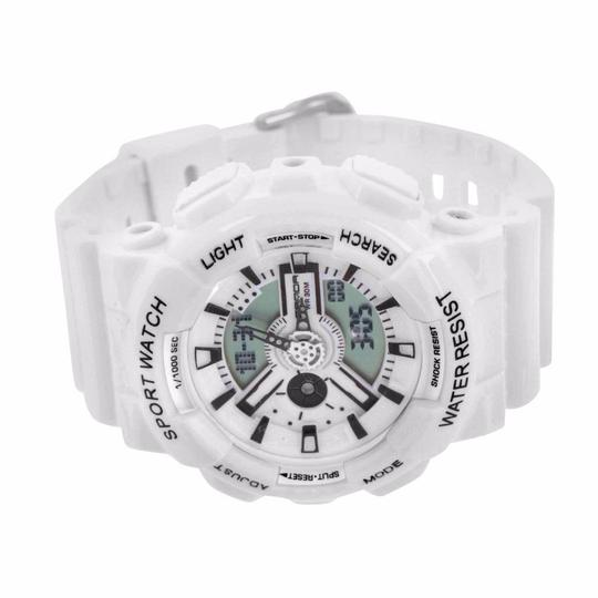 Other Water Shock Resistant Wrist Watch White Special Edition Analog Digital Mens Image 1