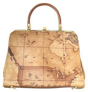 Alviero Martini Satchel in Geographical Map Print