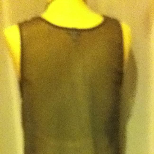 Charlotte Russe Sheer Beaded Top charcoal