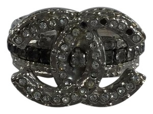 Chanel Chanel Interlocking CC Crystal Ring