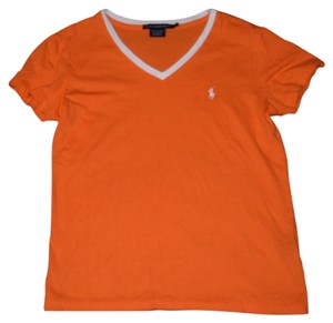 Polo Sport V-neck Casual T Shirt orange