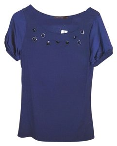 The Limited Studded Top Navy Blue
