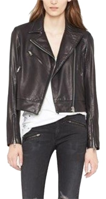 Item - Black Faux Leather Biker In with Quilt Pattern Jacket Size 4 (S)