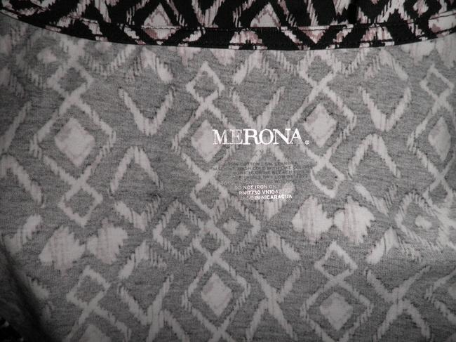 Merona Top Black/White/Tan