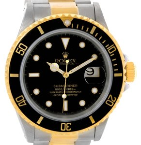Rolex Rolex Submariner Steel 18K Yellow Gold Black Dial Watch 16613