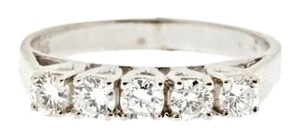 Other 14k white gold .60 ct (5 diamonds) vintage band ring