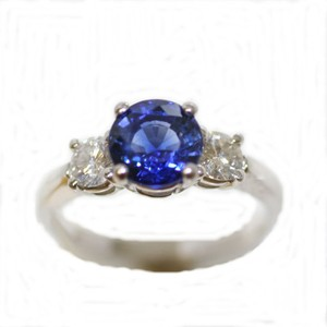B. Brilliant Brilliant Cut Sylon Sapphire Engagement Ring