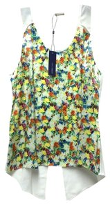 Rebecca Minkoff Sleeveless Silk Sheer Floral Top