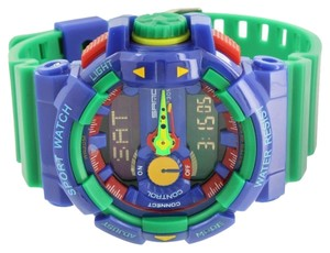 Other Baby Blue Sports Watch Shock Resistant Digital-Analog Blue Silicone Strap Mens