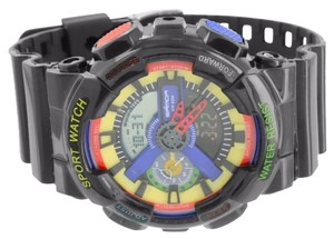 Shock Resistant Watches Multi Color Dial Digital Analog Sports Edition Black Men