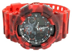 Other Shock Resistant Red Camouflage Watch Analog-Digital Sports Edition Military Army