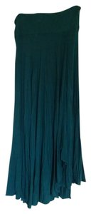 Coldwater Creek Soft Jersey Maxi Skirt Teal Green