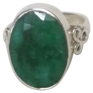 Other Sterling Silver Emerald Gemstone Ring
