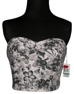 Wallflower Black/White/Gray Halter Top