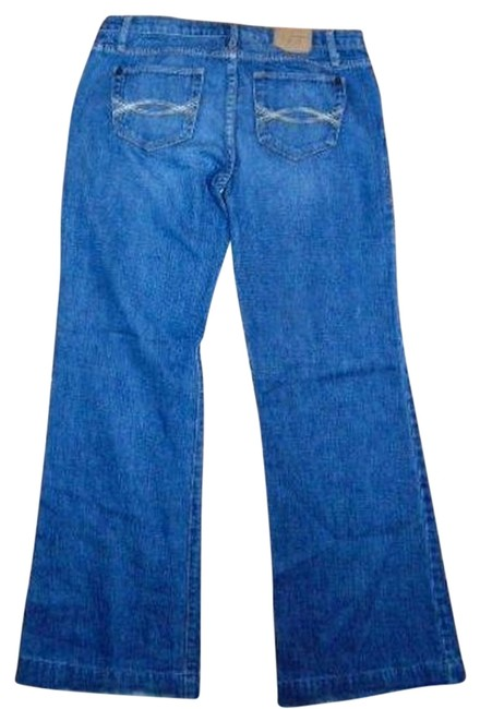 Abercrombie & Fitch Size 2 Wide P497 Straight Leg Jeans-Medium Wash