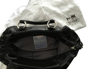 Coach Signature Satchel in Black and Gray